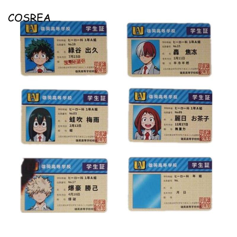 Anime My Hero Academia Izuku Midoriya Student Card Holder Cosplay Costumes Student ID Card Holder Men Card Holder