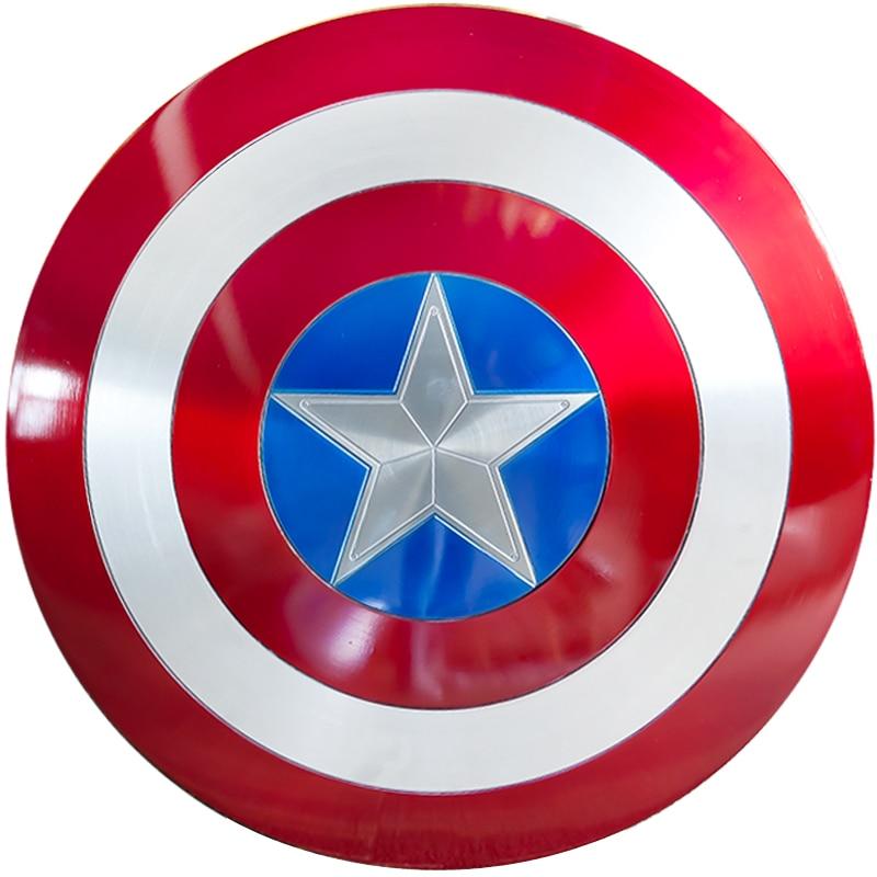 Os Vingadores: Infinito HIDRA Guerra Cosplay Capitão América Escudo de Metal CHEIA Cosplay Coleções de Fãs Presentes do Dia Das Bruxas Adereços 60 cm