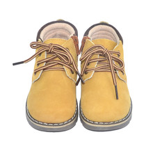 SandQ baby boys ankle boots genuine leather shoes winter footwear for kids chaussure zapato children shoes girls yellow boot(China)