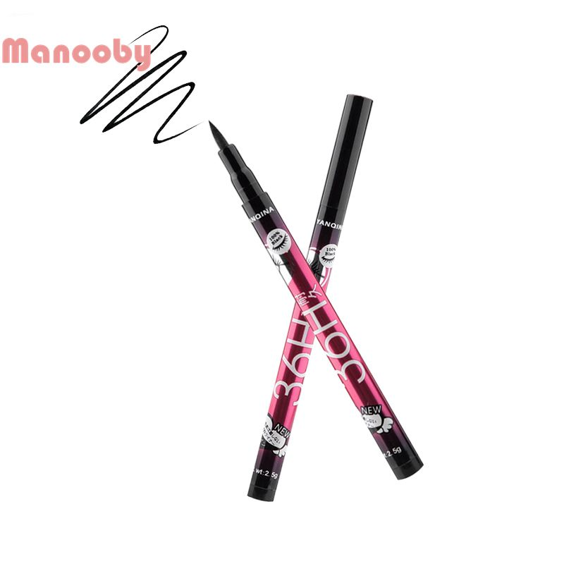 Manooby Liquid Black Eye Liner Pen Long Lasting Waterproof Cosmetic Women Easywear Eyeliner Pencil Pen Make Up Sexy Beauty Tool