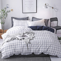 Geometric Bedding Set Striped Plaid Duvet Cover Bed Sheet Pillowcase Bedclothes Bed Linen Home Textiles Single Twin Queen King