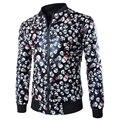 Frete grátis 2016 moda casual mens jaqueta de manga ong manga costela Camouflage leopardo padrões crânio homens casaco ZPY27