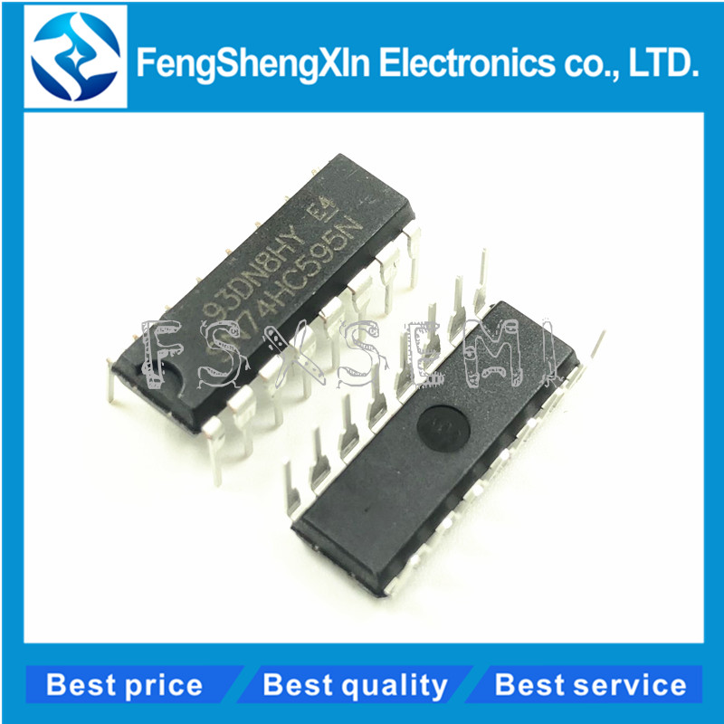 10pcs/lot SN74HC595N 74HC595 74HC595N DIP-16 8BIT SHIFT REGISTERS WITH 3 STATE OUTPUT REGISTERS IC