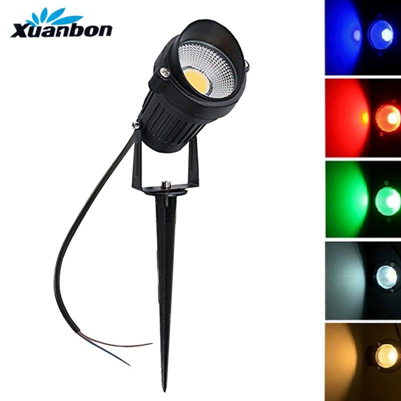 3W 5W COB LED Lawn Lamp DC 12V AC110V 220V Outdoor Decorative Landscape light Super Bright Spotlight for Garden Yard Path