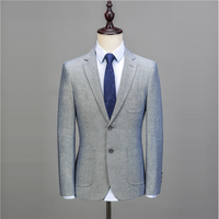 NA57 Custom made Quality Men's Clothing Men linen fabric Casual Suit Slim Fit 2018 Fashion Mens 3 Piece Wedding Suits With Pants