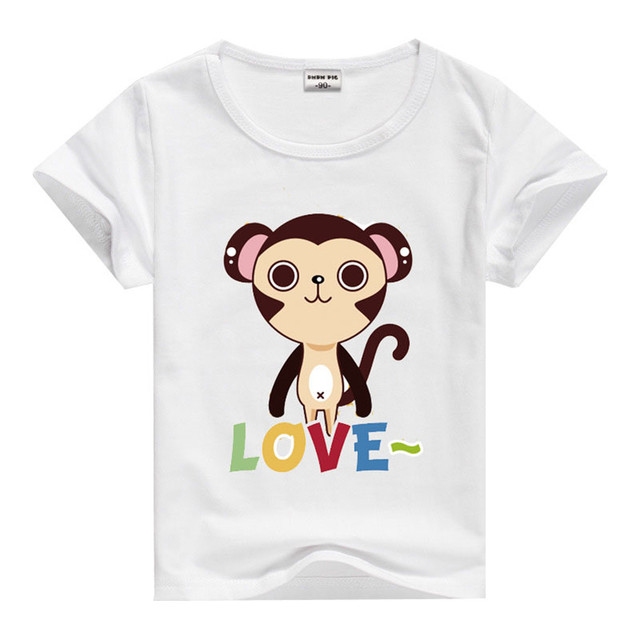 T-shirts for Boys Summer Baby Girls Cotton Cartoon Animal Print Short  Sleeve T Shirt Cute Toddler Tees Top Kids Clothes 8a3a067aa