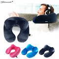 Yamala U-Shape Travel Pillow for Airplane Inflatable Neck Pillow Travel Accessories Comfortable Pillows for Sleep Home  3 Color