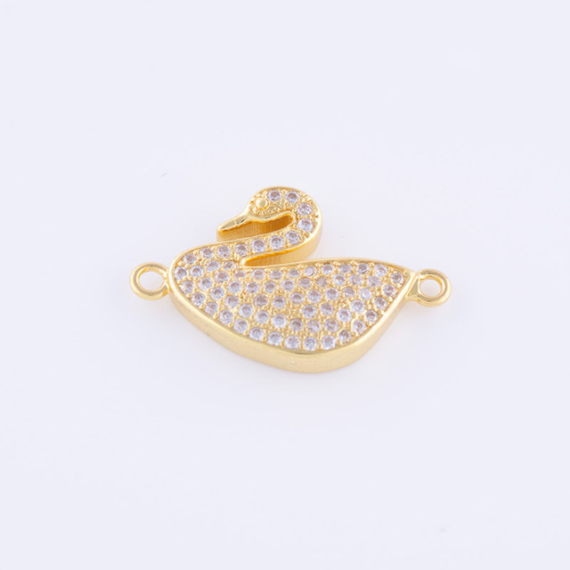 DIY Accessories To Make Bracelet Necklaces Jewelry Connector High Quality Copper  Inlay AAA Cubic Zirconia Rhinestone c99f986786a7