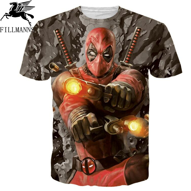 2018 summer Deadpool Men T shirt Fashion Regenerating Jackass Design tops The Darth King Print 3D T-Shirts boys Hipster tee