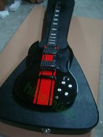 Very beautiful new SG electric guitar black and red guitars free shipping ebony fret EMG pickup