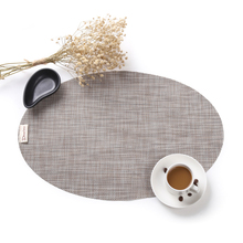 4pcs Japanese Oval Placemat Table Mat Waterproof Tablecloth Coasters Pads  Heat Insulation Dining Table Mat 45x30cm