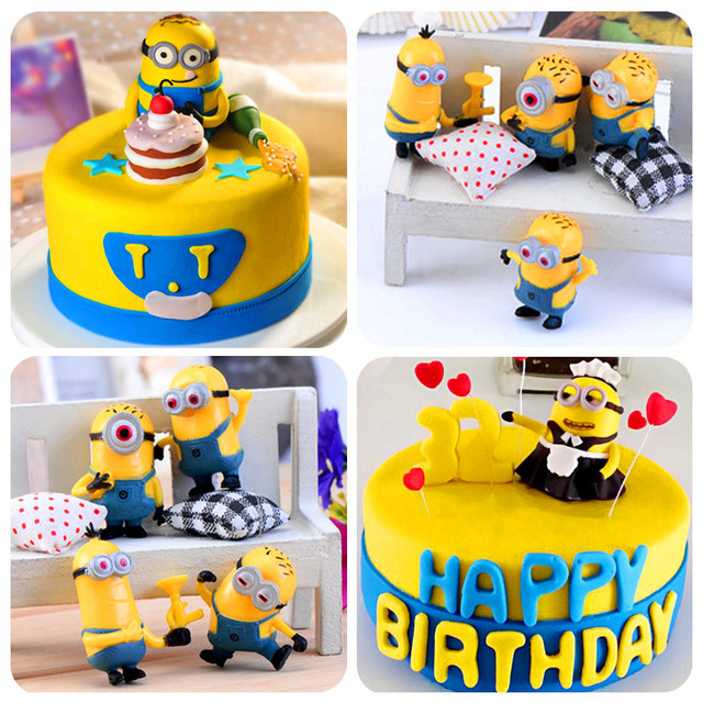 2015 Popular Despicable Me 2 Doll Minions Cake Topper Decoration
