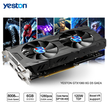 Yeston GeForce GTX 1060 GPU 6GB GDDR5 192 bit Gaming Desktop computer PC Video Graphics Cards support PCI-E X16 3.0