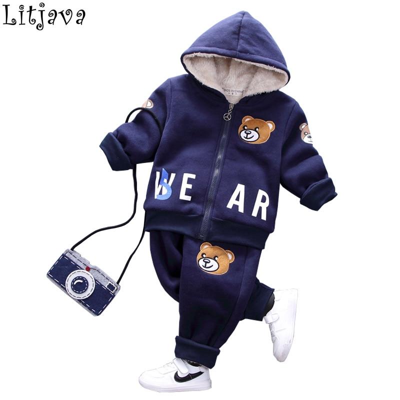 Warm Baby Winter Parka Jackets Flying Bear Children's Chirstmas Down Coat+ Pant 2Pcs Costumes Set for Boys Bebes Snow Outwear колесные диски tech line 645 6 5х16 5х114 3 d67 1 ет45 s