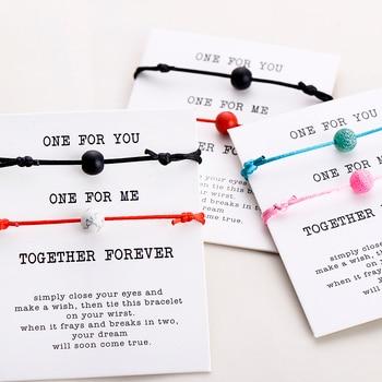 Relationship bracelets for him and her