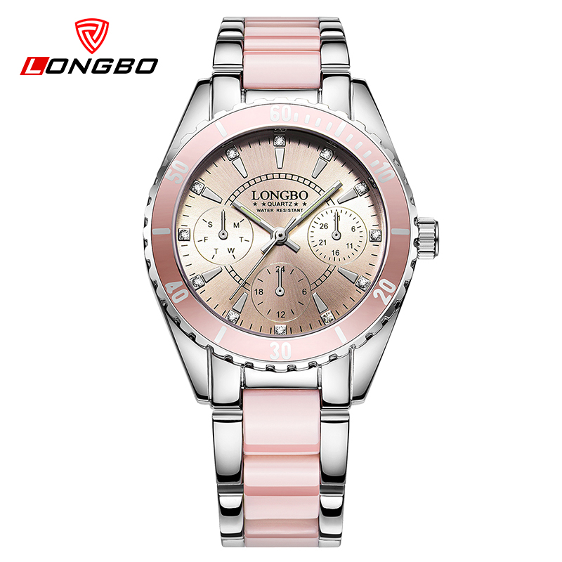 LONGBO New quartz watch women top luxury wrist watches ladies clock quartz-watch relogio feminino brand reloj mujer 2016 top quality women s exquisite commercial watches quartz clock white black ceramic watch lady new longbo brand gift wrist watches