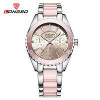 LONGBO New Quartz Watch Women Top Luxury Wrist Watches Ladies Clock Quartz Watch Relogio Feminino Brand