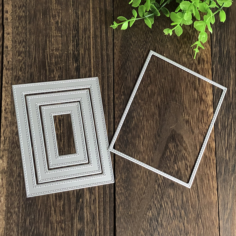 Rectangle Frame Cover Metal Cutting Dies for DIY Scrapbooking Album Embossing Folder Maker Paper Card Template Stencils Craft in Cutting Dies from Home Garden