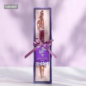 Image 3 - Never serie de sirenas bolígrafos de bola de 0,7mm, bolígrafo de lujo de oro rosa para oficina, regalo de papelería, suministros escolares para estudiantes