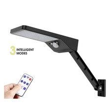 desk wall mount remote control rotate bracket solar street light 48 LED Waterproof PIR Motion Sensor Lamp 3 Mode Solar Light Fo цена