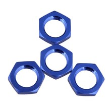 17mm Upgrade Wheel Hex Hub Nut Cover N10177 for RC1:8 Model Car,dark blue(China)
