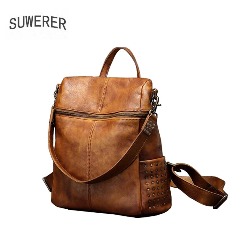 2019 New women Genuine leather bag designer famou brand real leather women backpack fashion Casual women leather backpack2019 New women Genuine leather bag designer famou brand real leather women backpack fashion Casual women leather backpack