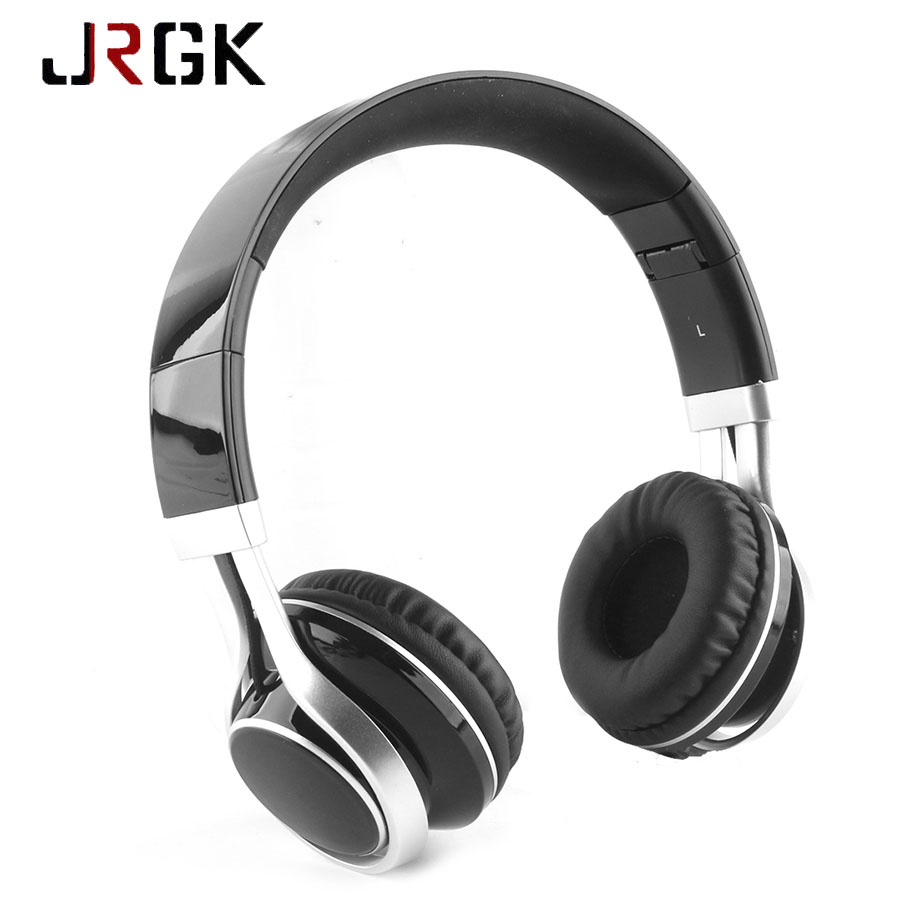 JRGK Wired Headphone 3.5mm Stereo Headset Foldable With Microphone Headband Earphone Big Auriculares For iPhone Samsung Computer new foldable 3 5mm stereo headband headphone headset hand free call with microphone 1 5m cable for pc windows phone ios android