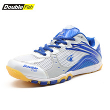 Table-Tennis-Shoes Ping-Pong-Sneakers Men for Women Breathable Anti-Slippery Double-Fish-Df-868