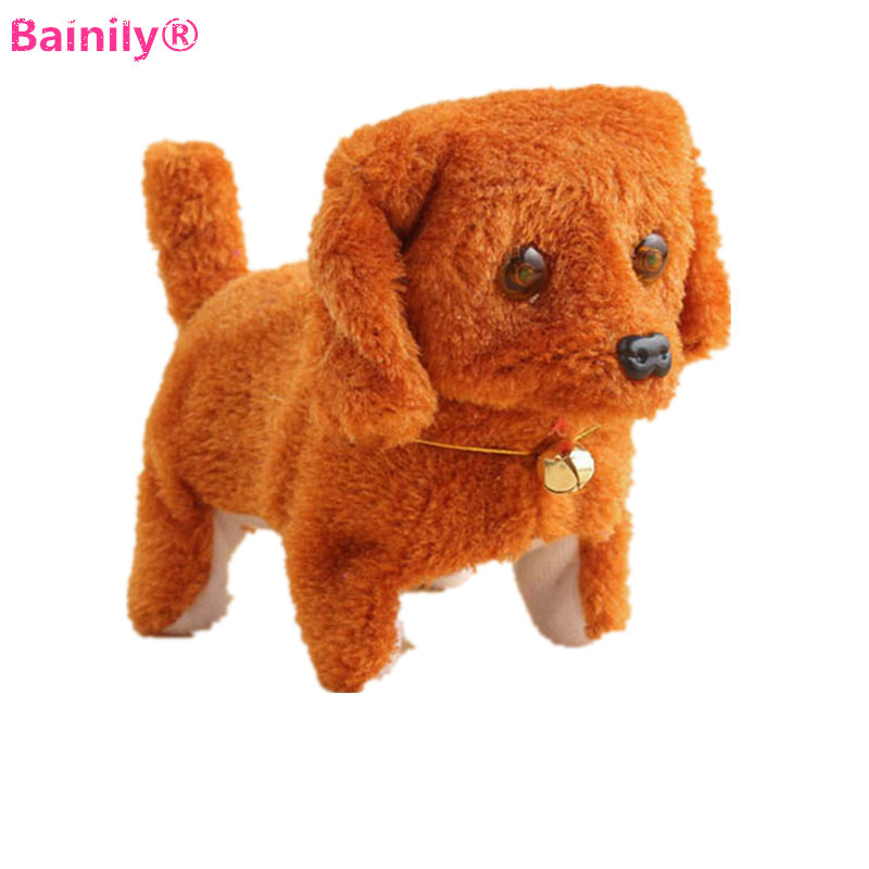 [Bainily] 1pc Electronic Dogs Interactive Robot Dog Electronic Glow Eyes Pets Bark Stand Walk Electronic Toys Dog For Children