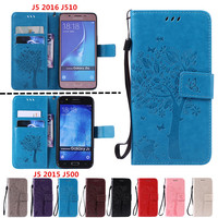 Leather Wallet Cover For Coque Samsung Galaxy J5 Case J510 J510F SM-J510F J500 J500F Phone Case Capa for samsung j5 j 5 2016