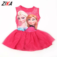 Kids Girls Frozen Dress Prince Elsa Anna Costume Sleeveless Sundress Girl S Fashion Frozen Pinafore Dress