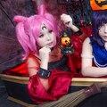 Sailor Moon Crystal Chibi Usa ChibiMoon Tsukino Usagi Small Lady Serenity Pink Cosplay Wig