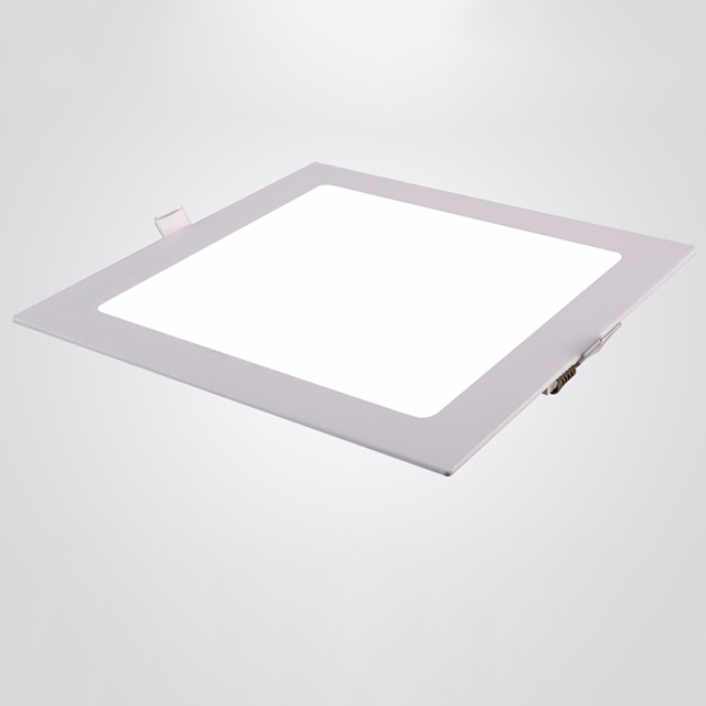 Square LED Panel Light 15W Ceiling Recessed Slim Ultra Thin Design ...