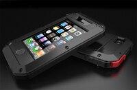 Для iphone 4 4S Водонепроницаемый Dropproof призма Алюминий чехол для iPhone 4S металлическая крышка + гориллы Стекло 3 случае доказательства крышка