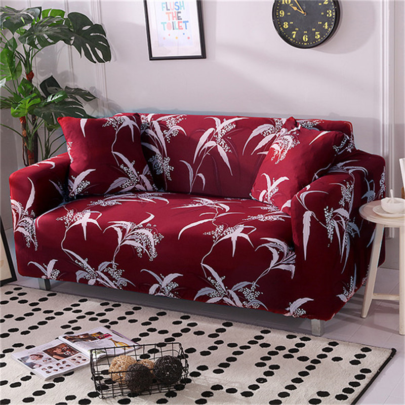 Stretchable Sofa Cover with Elastic for Sectional Couch Protects Sofa from Stains Damage and Dust 17