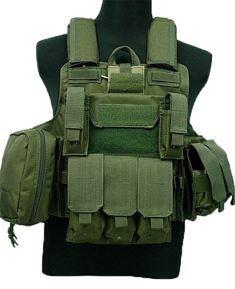 Gilet tactique Molle CIRAS Airsoft Combat Vest W/Magazine Pouch Libérable Armor Plate Carrier Grève Gilets Vêtements de Chasse Vitesse