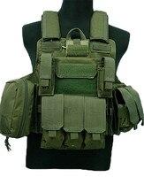 ทหารยุทธวิธี MOLLE เสื้อกั๊ก CIRAS Airsoft COMBAT เสื้อกั๊ก Releasable แผ่นเกราะ Carrier Strike Paintball การล่าสัตว์ MagPouch RIG เสื้อกั๊ก-ใน เสื้อกั๊กล่าสัตว์ จาก กีฬาและนันทนาการ บน