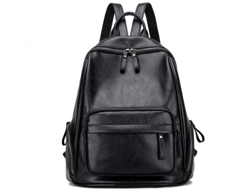 Solid Women Backpack High Quality PU Leather Backpack School Shoulder Bags for Teenagers Girls Travel Bags
