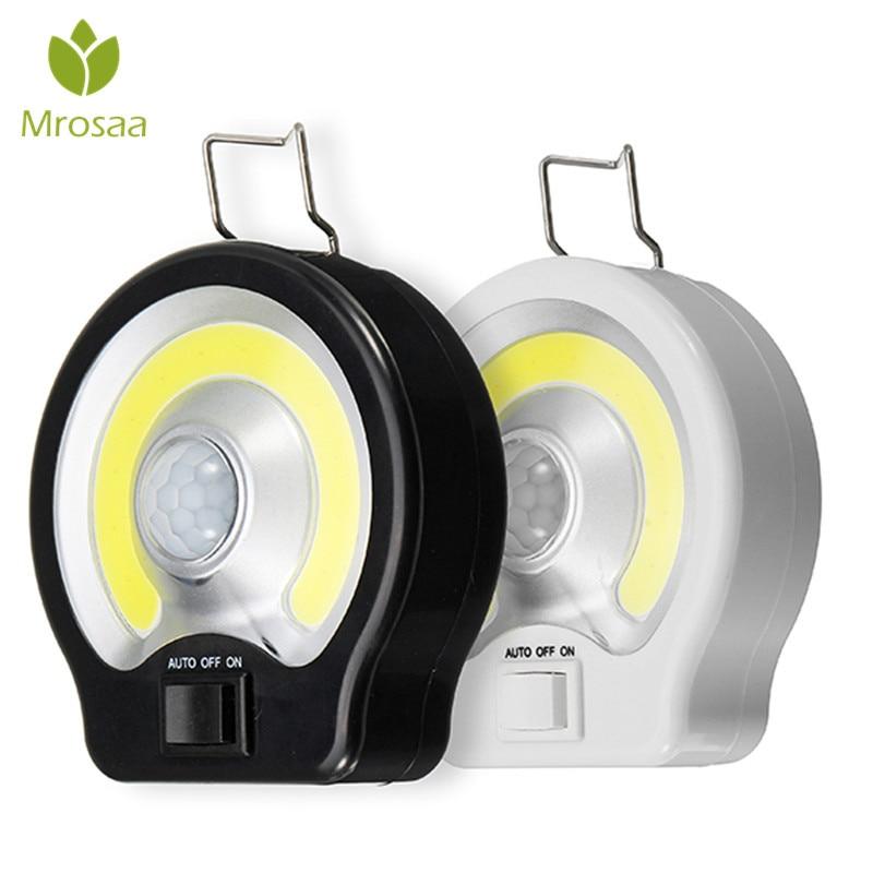 Mrosaa Night Lamp PIR COB Motion Sensor Light Induction LED Night Light