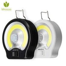 Mrosaa Night Lamp PIR COB Motion Sensor Light Induction LED Night Light Magnet Work Lamp Battery Powered Bedroom Indoor Portable