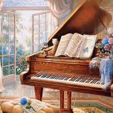 Diamond Painting PianoFull Square  Drill Diy Cross Stitch Embroidery Masek Home Christmas