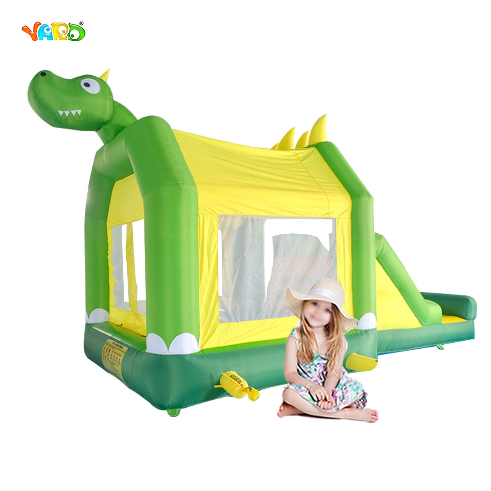 YARD Inflatable Bouncer House Jumping Castle with Slide and Pool for Kids DHL Free Shipping free shipping hot commercial summer water game inflatable water slide with pool for kids or adult