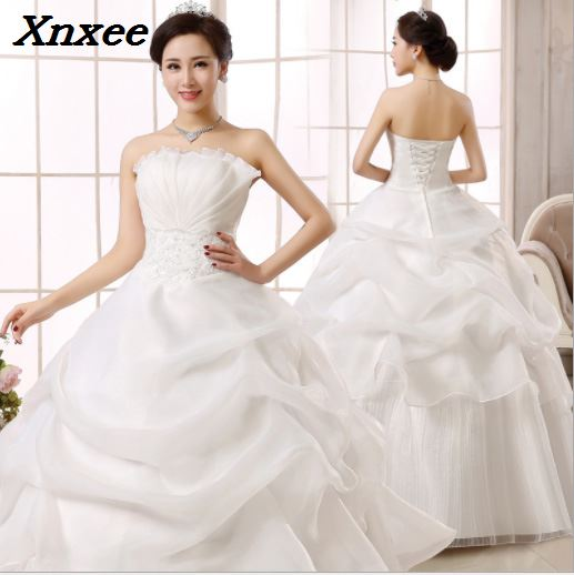 Xnxee 2018 Vintage Lace Red Dresses Long Train Plus Size Bridal Ba...
