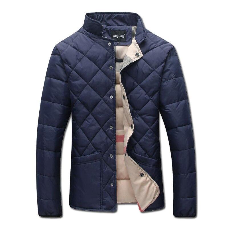 2016 Men Winter Solid Color Padded Cotton Jackets Coats Jaqueta Masculina Men's Casual Fashion Slim Fit Veste Homme Jackets Men