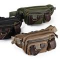 Military Travel pouch Fanny pack Waist bag Belt Shoulder Bag Men Leather Joint