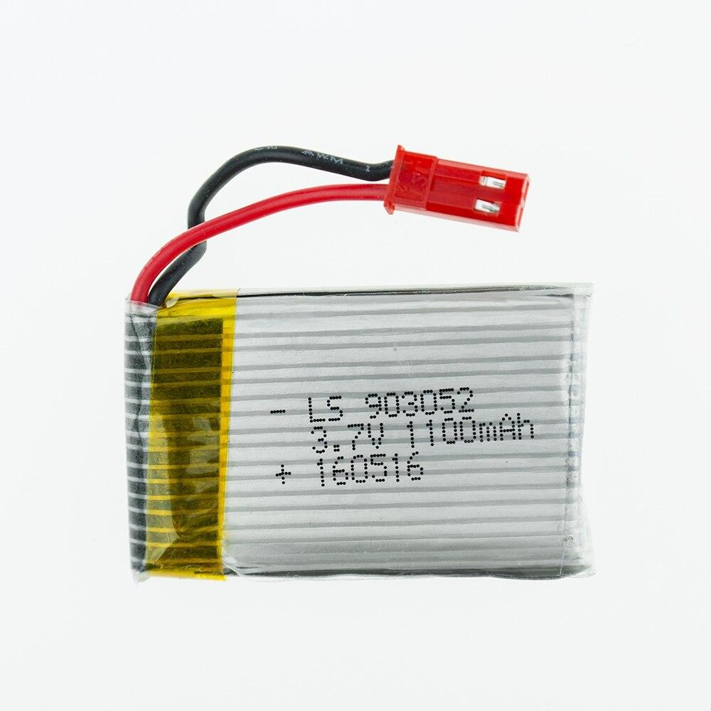2 pçs/lote 3.7V 1100mAh Lipo Bateria para CCI H11C H11D RC Quadcopter Peças