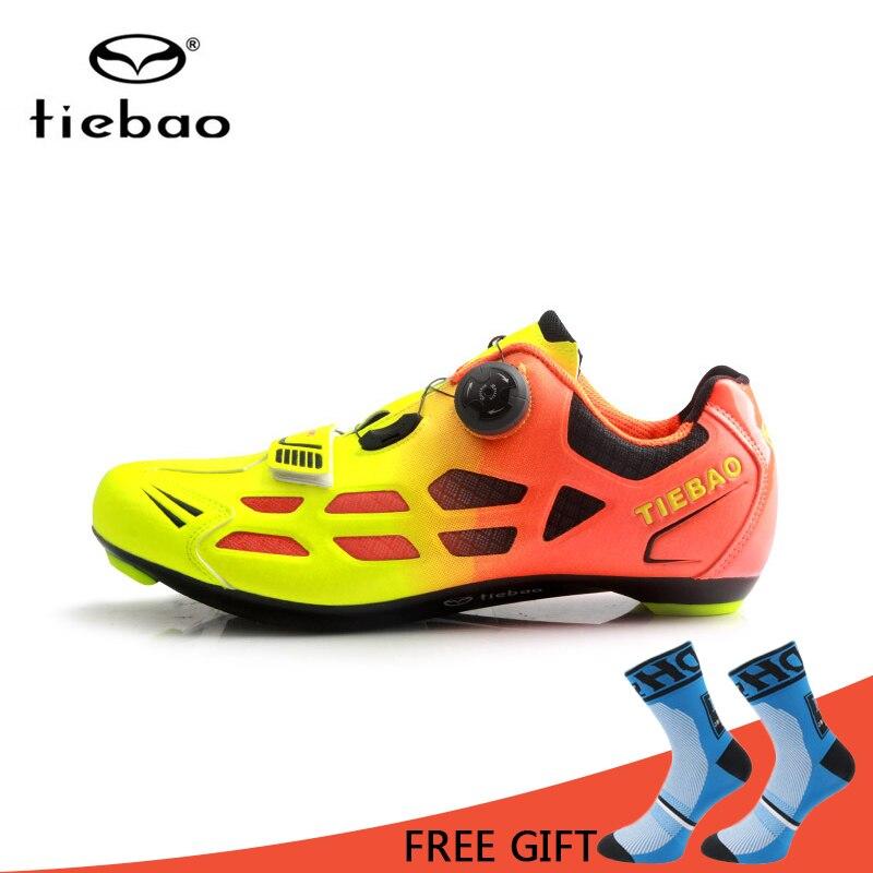 Tiebao chaussures De cyclisme hommes femmes auto-verrouillage respirant vélo chaussures De vélo vtt course sur route chaussures d'équitation Sapatos De Ciclismo