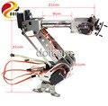 Original doit 6 dof robot arm para arduino alumínio grampo garra manipulador mecânico de máquinas de metal em aço inoxidável diy brinquedo do rc