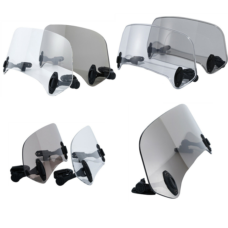 Motorcycle Adjustable Windshields Extension Windscreen Spoiler Wind Deflector Protection For Honda Suzuki Yamaha BMW KAWASAKI