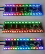 5 v rgb mcu padrão de exibição ajustável duplo canal 24 led indicador nível frete grátis